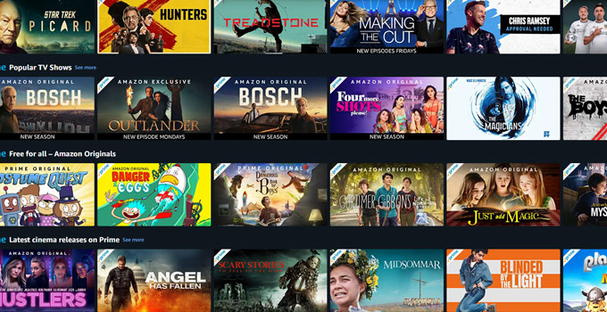 Amazon Prime Movies Video TV Shows